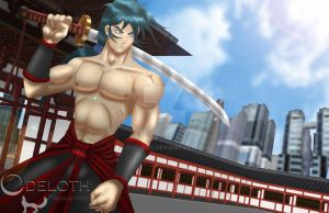 Saik the Lonely Warrior by odeloth