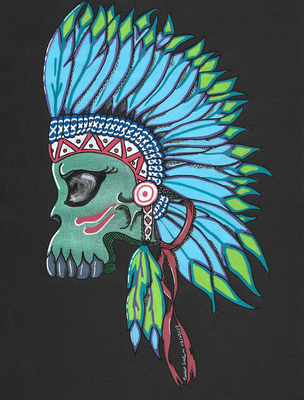 Indian Skull Color Scan 02-07-2017 by sacerludum