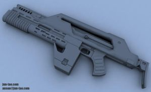 M 412a Pulse Rifle by juntao