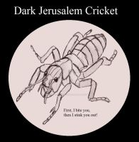 Dark Jerusalem Cricket, Insect Buddies series 2 by UnicronHound