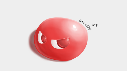 Red puyo (SUPERSHADING) by GlitchyPSIX