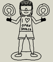 The Open Source Girl by thecatstudio