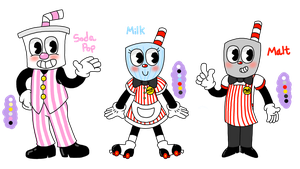 Cuphead OCs by TabbyPiggy