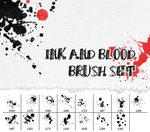 Ink and blood set brush by Kyoux