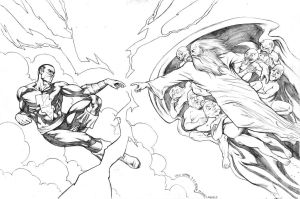 Creation of Black Adam Pencils by craigcermak