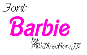 Font Barbie by MiliDirectionerJB