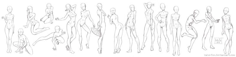 Pose study3 by Kate-FoX