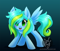 Azure Sparkles 2 (commission) by StarshineBeast