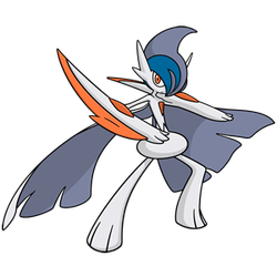 Shiny Mega Gallade Global Link Art by TrainerParshen