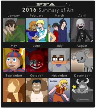 2016 Summary of Art by The-Legendary-Female
