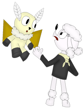 Moth and poodle colored by TheGamedawg