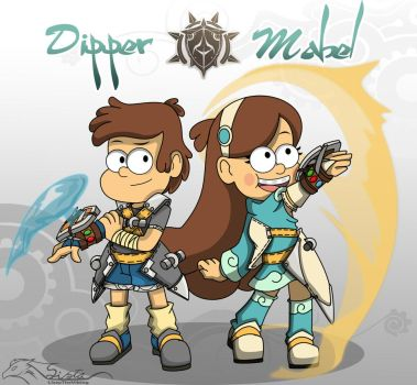 Wakfu: Dipper  Mabel Pines by auveiss