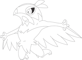 Lineart of Hawlucha