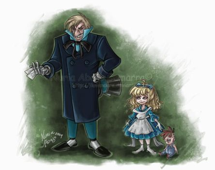 Mad Hatter and Baby Doll BTAS by nuriaabajo