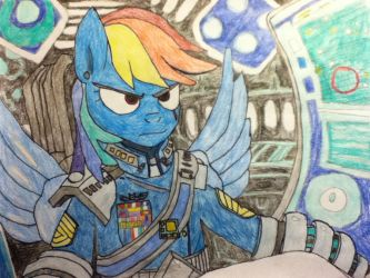 Captain R. Dash Drawing by EnteringTheNethery