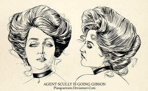 Agent Scully is going Gibson by Plangcartoon