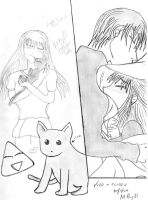 Kyo and Tohru by XkissXmeXquickX