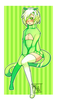 [AT] Grummpy green cat boy by Memoka