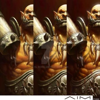Garrosh Hellscream Progress by XL-Kong