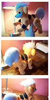 Old Fashioned Growlithe Doll by nettlebeast