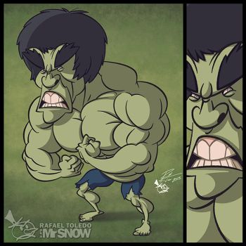 The Incredible Hulk Lou Ferrigno by RToledoMrSnOw