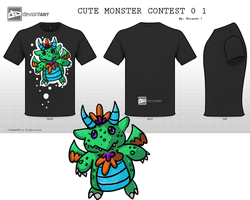 Cute Monster Design 01 by GiantTomatoes