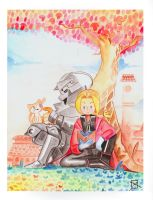 Elric Brothers by mikey2525