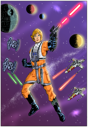 LUKE SKYWALKER by paintmarvels
