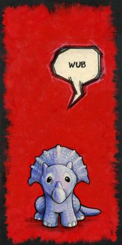 Triceratops Says 'Wub' by ursulav