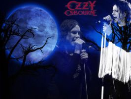 Ozzy Osbourne Bark at The Moon WallPaper by Mick81