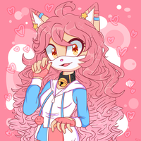 A lot of pink for a cat by Kiiro-nee-san