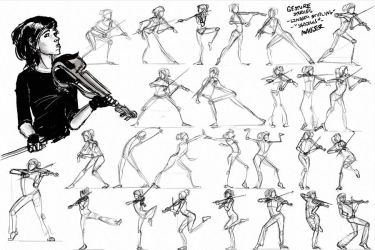 Gesture Studies - Lindsey Stirling - 'Shadows' by joshmauser