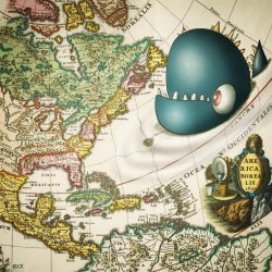 Sea Monster Considers Eastern Seaboard (17thc) by davekeck