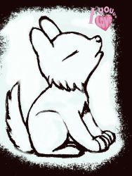 baby wolf saying i love you by stacylyn