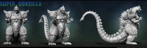 Super Godzilla Zbrush Mesh Turnaround by Digiwip