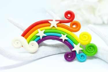 Rainbow Clay Magnet by SophieXSmith