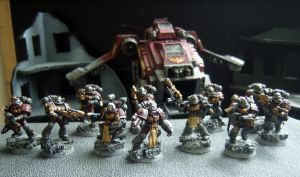 Sternguard Veterans and Priest by Noveros