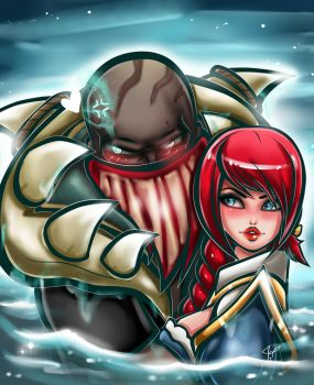 LoL Pyke and Miss Fortune ship by JamilSC11