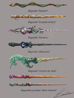 Some Wands in Harry Potter Style #2 by MissDesign33