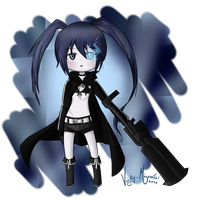 Chibi Black Rock Shooter by Vicky-Mionelei