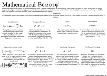 Mathematical Beauty Infographic by IAmPuzzlr