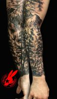 Forest Nature Tree Sleeve Tattoo by Jackie Rabbit by jackierabbit12