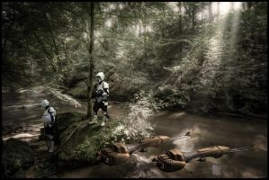 Patrol on Endor by ChristianBT