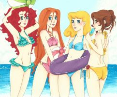 Beach Babes part 2  by chelleface90