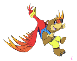 Banjo and Kazooie by mithol