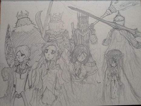 Dark Souls II: Of Monarchs and their Queens by Superbz1212