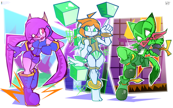 Freedom Planet Girls by Pedrovin