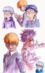 Mob Psycho 100 Watercolor Doodles by Zinfer