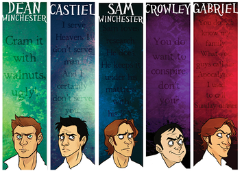 Supernatural Bookmarks by sheax-b