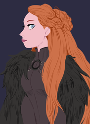 Lady Stark by snownymphs